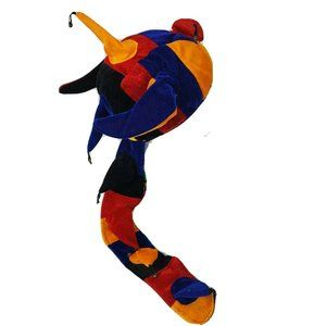 Court Jester Joker Clown Dragon Hat Cap Velour